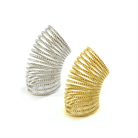LAYERS,RING,LAYER RING, spring ring, GOLD SPRING RING, SILVER SPRING RING