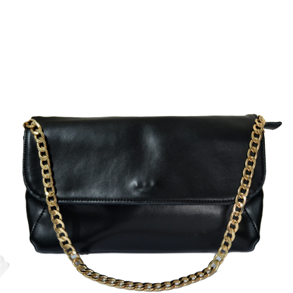 REAL LEATHER GOLDEN CHAIN BAG - product image