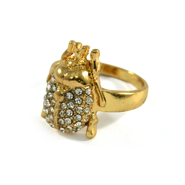 CRYSTAL BEETLE RING - product image