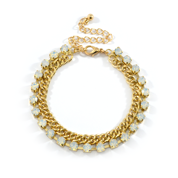 CHAIN WITH CRYSTALS BRACELET - product image