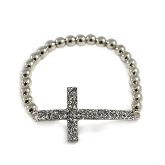 CRYSTAL CHARM WITH BEADS BRACELET - product image