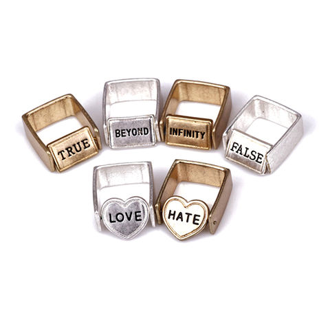 TWO,SIDES,RING,MESSAGE RING, TWO SIDE MESSAGE RING, HEART RING, HEART MESSAGE RING, RECTANGLE MESSAGE RING, VINTAGE HEART RING, VINTAGE SQUARE RING