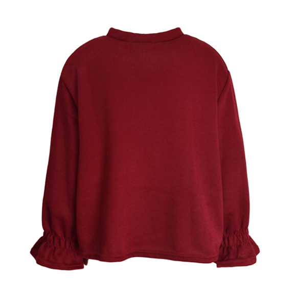 RUFFLE SLEEVE JUMPER - product image