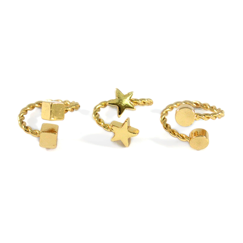 DOUBLE,MINI,RING,MINI CHARMS RING, DOUBLE STAR RING, DOUBLE MINI STAR CHARMS RING, DOUBLE SQUARE RING, DOUBLE SQUARE CHARM RING, STAR RING, CUBE RING