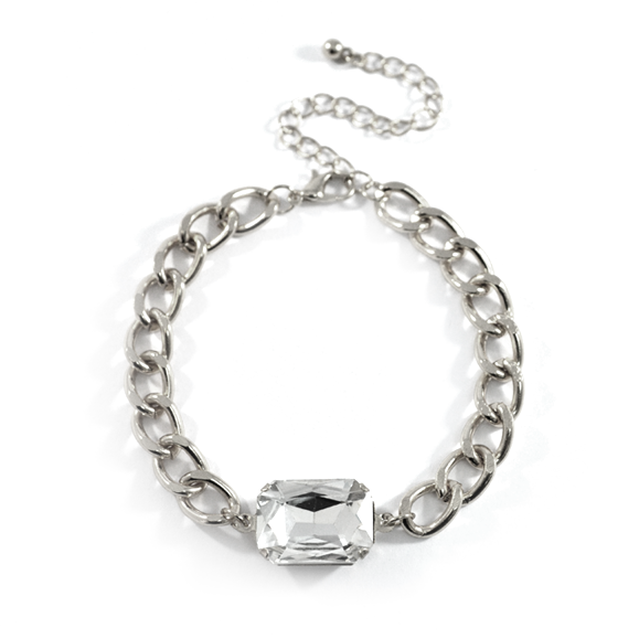 CHUNKY CHAIN CRYSTAL BRACELET - product image