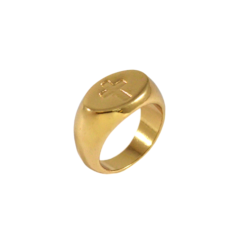 CROSS,SIGNET,RING,CROSS RING, CROSS SIGN RING, ENGRAVED CROSS RING