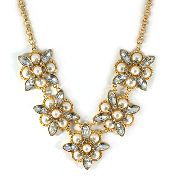 FLORAL BIB NECKLACE - product image