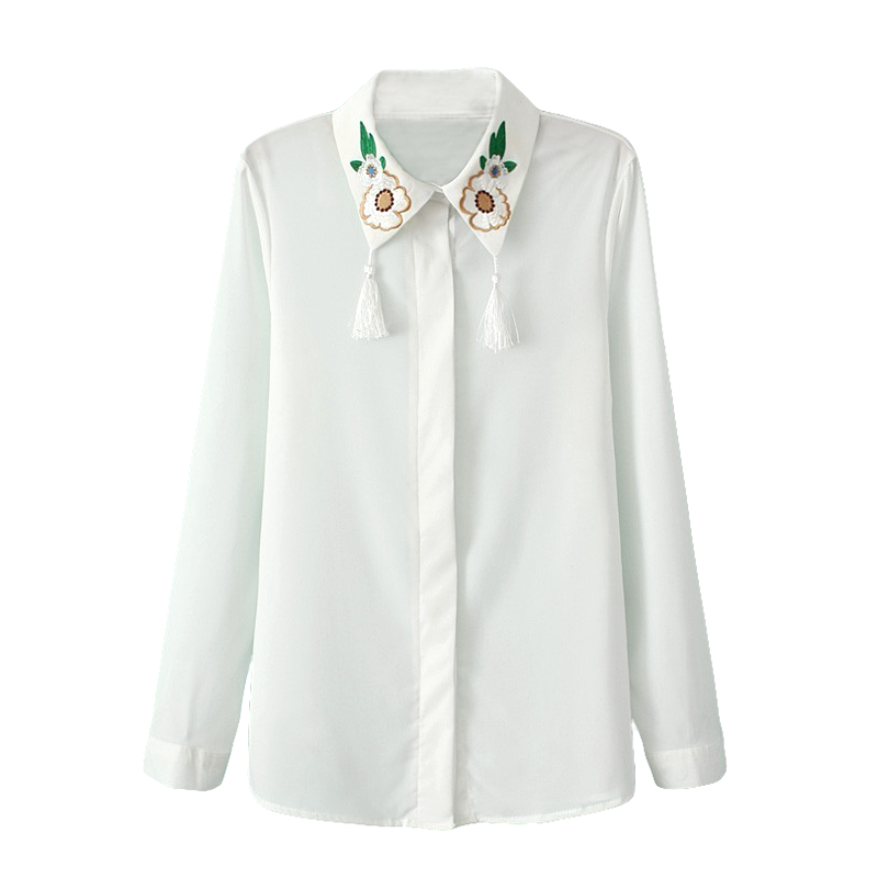 FLORAL WITH TASSEL SHIRT - product image