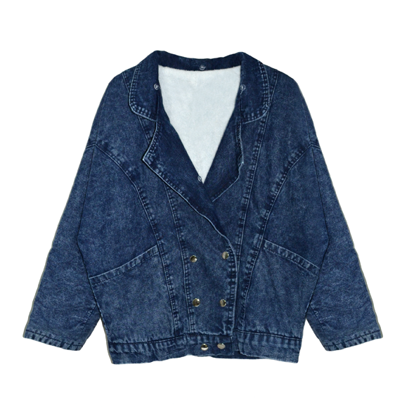 FAUX FUR COLLAR DENIM JACKET - product image