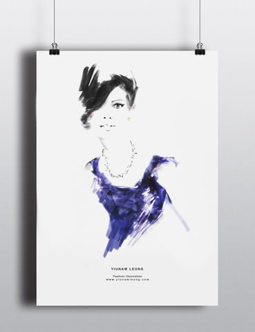 FASHION,PRINT,7,yiunam leung fashion illustration, fashion illustration print, fashion prints