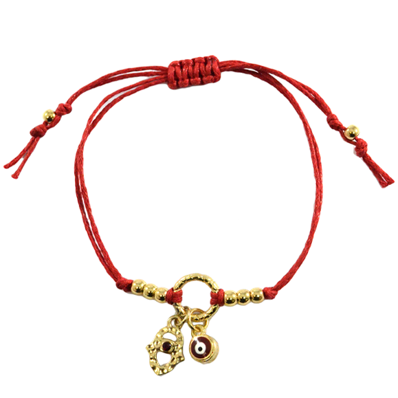 EYE WITH HAMSA CHARMS BRACELET - product image
