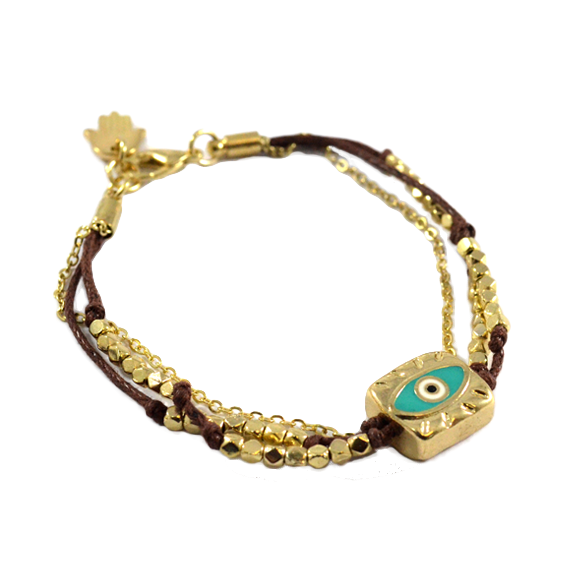 EYE CHARM WITH BEADS BRACELET - product image