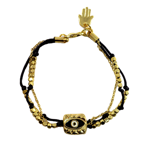 EYE,CHARM,WITH,BEADS,BRACELET,EYE BRACELET, CHAIN AND STRING BRACELET, EYE CHARM BRACELET, GOLD EYE CHARM BRACELET, BEADS BRACELET