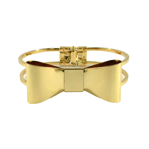 BOW,BANGLE,GOLD BOW BANGLE, BOW PENDANT BANGLE, BOW BRACELET, GOLD BOW BRACELET