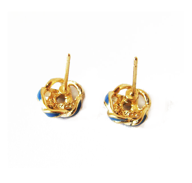 BLUE KNOT EARRINGS - product image