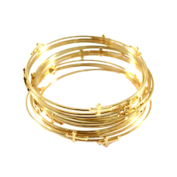 MINI CROSS BANGLE SET - product image