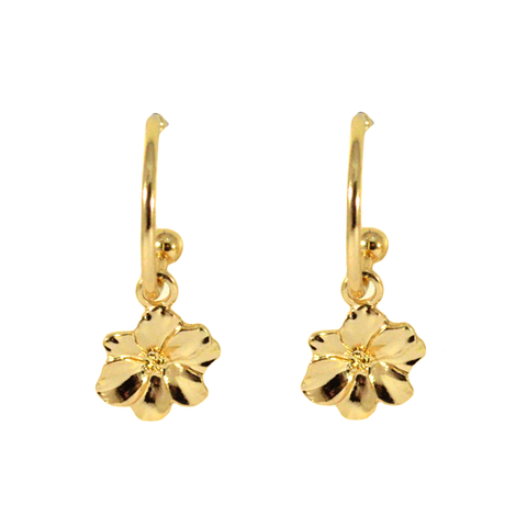 LITTLE,FLORAL,EARRINGS,FLOWER EARRINGS, DANGLING FLOWER EARRINGS,GOLD FLOWER EARRINGS, GOLD DANGLING LITTLE FLOWER EARRINGS