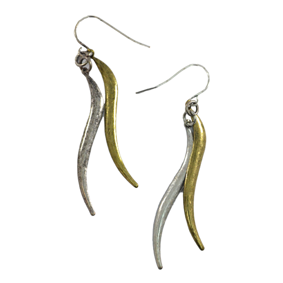 METALLIC EARRINGS - product image