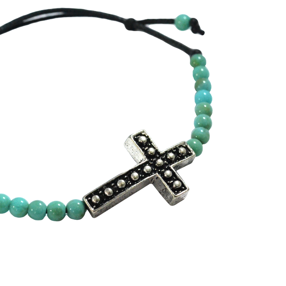STONE WITH CROSS BRACELET - product image