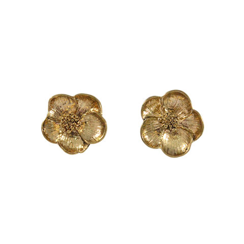 FLORAL,EARRINGS,GOLD FLOWER EARRINGS, SILVER FLOWER EARRINGS, VINTAGE GOLD FLOWER EARRINGS, VINTAGE SILVER FLOWER EARRINGS, VINTAGE FLORAL EARRINGS