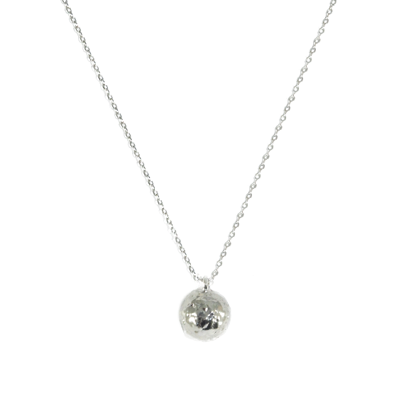 SILVER SPHERE NECKLACE - product image