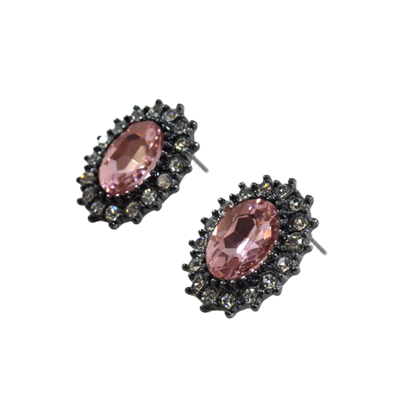 LARGE CRYSTAL EARRINGS - product image
