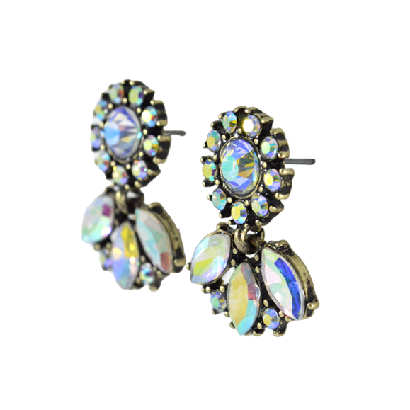 GLASS CRYSTAL EARRINGS - product image