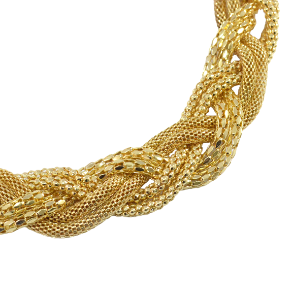 CHUNKY TWISTED CHAIN NECKLACE - product image