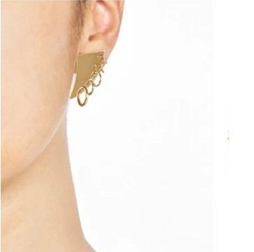 HORN WITH HOOPS EARRINGS - product image