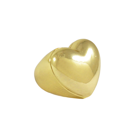 GOLD,TONE,HEART,RING