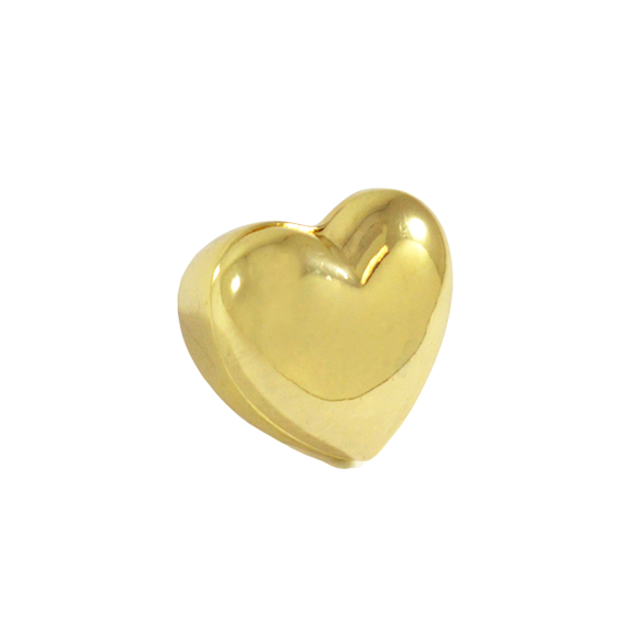 GOLD TONE HEART RING - product image