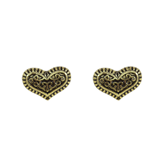 VINTAGE HEART EAR STUD - product image