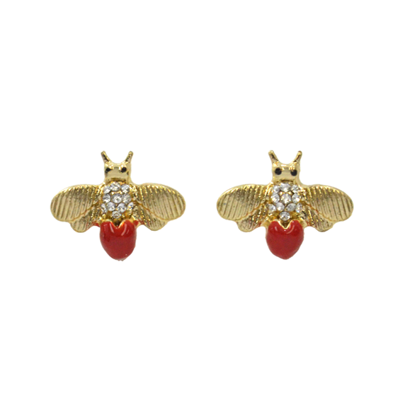CRYSTAL BEE EAR STUD - product image