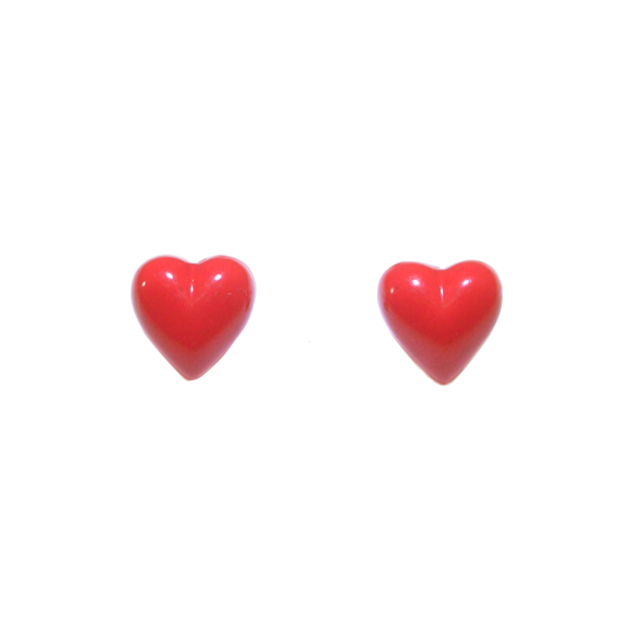 RED HEART STUD EARRINGS - product image