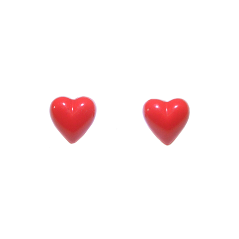 RED,HEART,STUD,EARRINGS