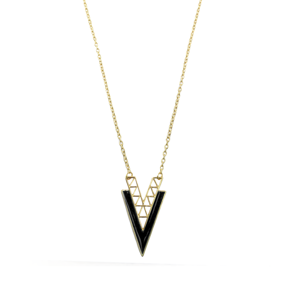 CONTRAST TRIANGLE NECKLACE - product image