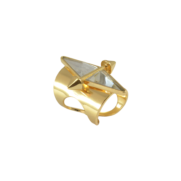 SPIKE WITH CRYSTAL RING - product image
