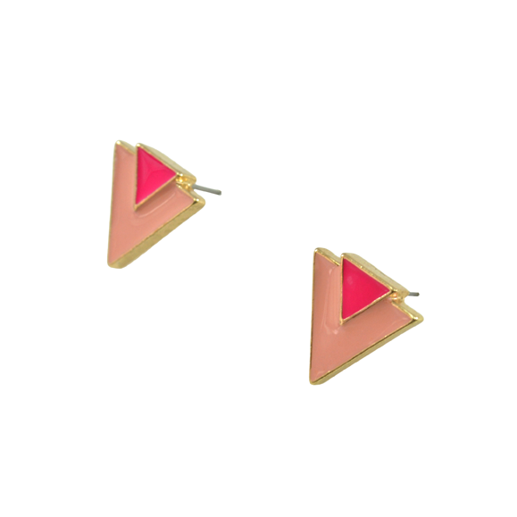 DOUBLE TRIANGLE EARRINGS - product image