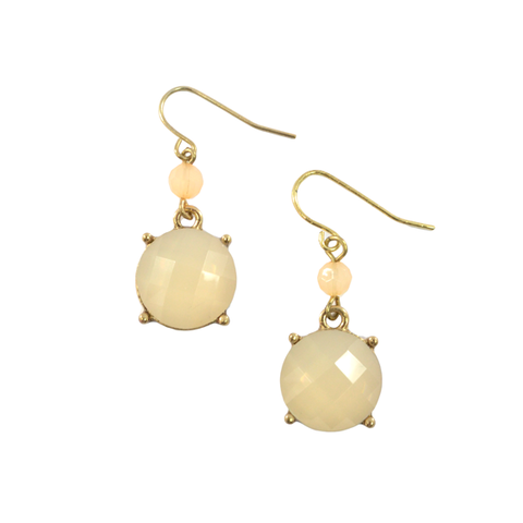 ELEGANT,FAUX,STONE,EARRINGS