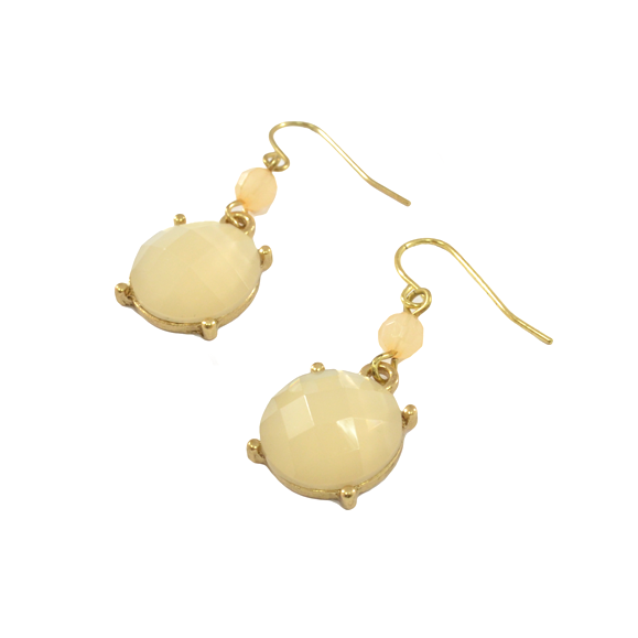 ELEGANT FAUX STONE EARRINGS - product image