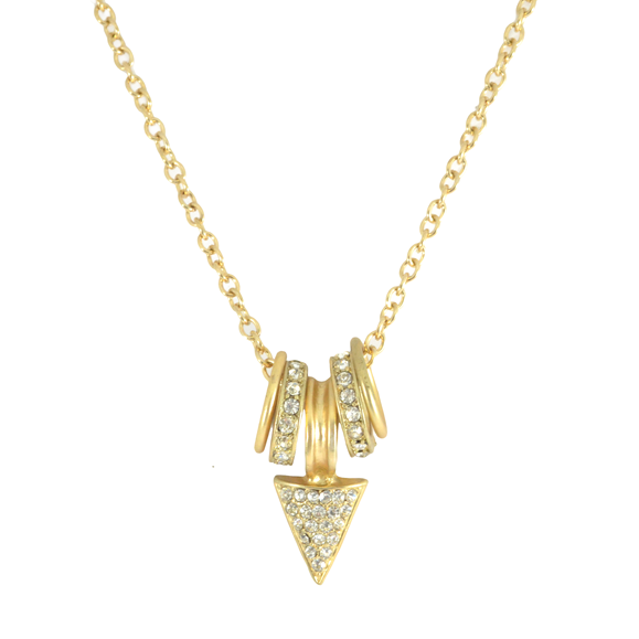 CRYSTAL CHARM AND ARROW NECKLACE - product image