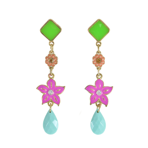SPRING,FLORAL,EARRINGS