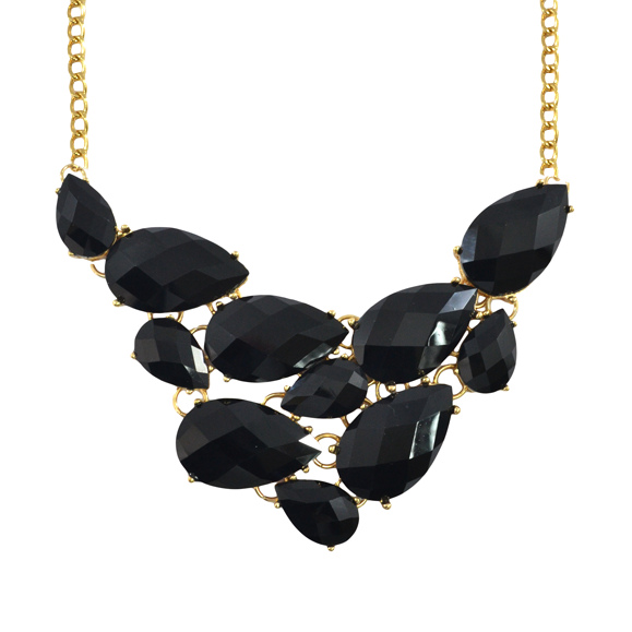 TEAR DROP FAUX GEMSTONE NECKLACE - product image