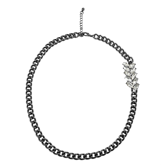 OVAL SHAPE CRYSTAL NECKLACE - product image
