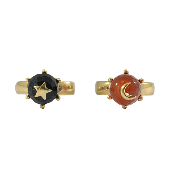 MOON AND STAR RING - product image
