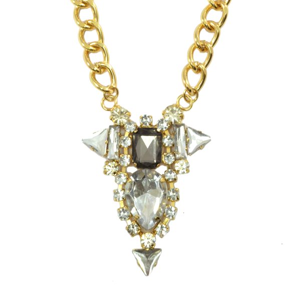 GLAMOROUS CRYSTAL NECKLACE - product image