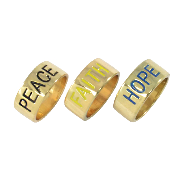 FAITH,HOPE AND PEACE RING - product image