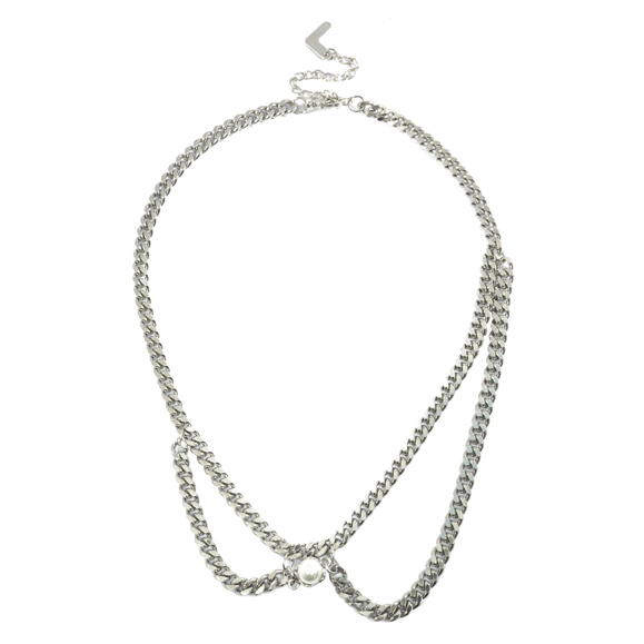 PEARL WITH CHAIN NECKLACE - product image