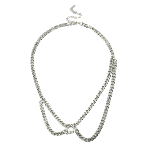 PEARL,WITH,CHAIN,NECKLACE