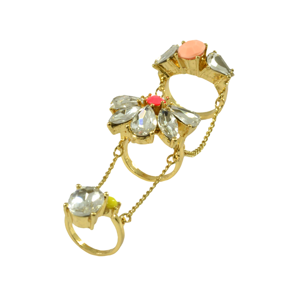 CRYSTAL CHAIN RING - product image